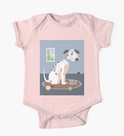 Dog with a bone in his mouth One Piece - Short Sleeve