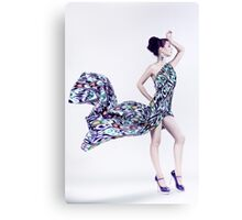 girl in the fabric dress  Canvas Print