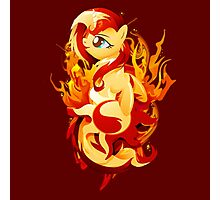 Flaming Sunset Shimmer Photographic Print