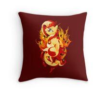 Flaming Sunset Shimmer Throw Pillow