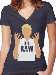 Gordon Ramsay -It's RAW! Women's Fitted V-Neck T-Shirt