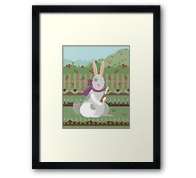 rabbit with a carrot Framed Print