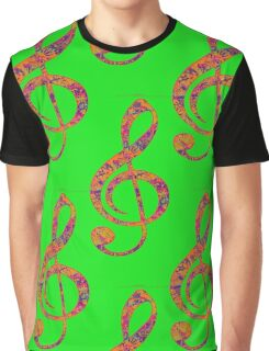 Psychedelic Music note 4 Graphic T-Shirt