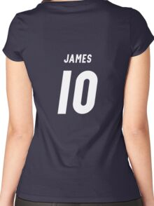 james rodriguez 1 Women's Fitted Scoop T-Shirt