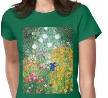 Flower Garden by Gustav Klimt Womens Fitted T-Shirt