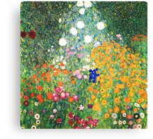 Flower Garden by Gustav Klimt Canvas Print
