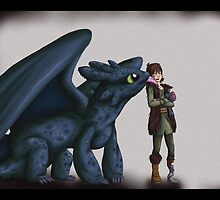 Toothless and Hiccup - HTTYD by Sofua