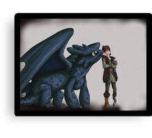 Toothless and Hiccup - HTTYD Canvas Print