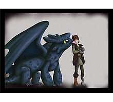 Toothless and Hiccup - HTTYD Photographic Print