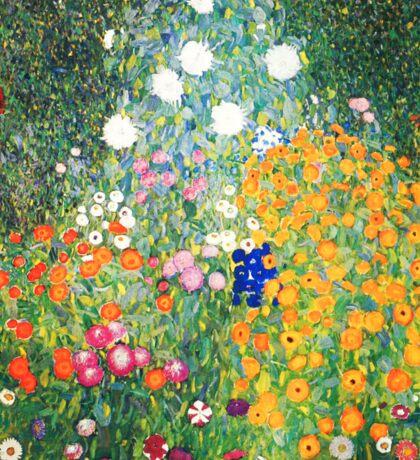 Flower Garden by Gustav Klimt Sticker