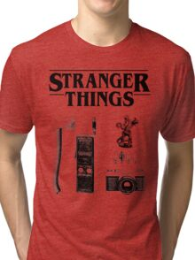 Stranger Things Stylised Objects Demogorgon Radio Tri-blend T-Shirt