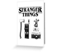 Stranger Things Stylised Objects Demogorgon Radio Greeting Card