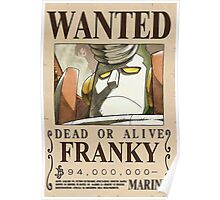 NEW WORLD CYBORG FRANKY WANTED POSTER Poster
