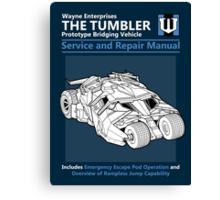 Service and Repair Manual Canvas Print