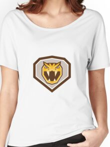 Angry Horned Viper Crest Retro Women's Relaxed Fit T-Shirt