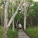 Mum and Dad in the Burrum Coast National Park QLD by Carol James