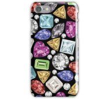 Elegantes buntes Edelstein Muster iPhone Case/Skin