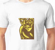 Tagaloa Peeking Woodcut Unisex T-Shirt