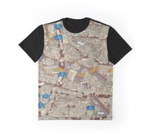 Illustrated map of Berlin-Mitte. Sepia  Graphic T-Shirt