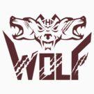 The Wolf Pack Head Retro by patrimonio