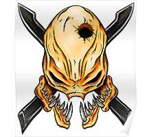 Elite Skull - Halo Legendary Orange Poster