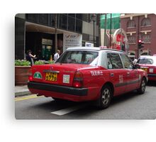 Hong Kong Urban Taxi Canvas Print