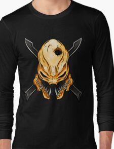 Elite Skull - Halo Legendary Orange Long Sleeve T-Shirt