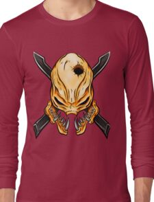 Elite Skull - Halo Legendary Orange Long Sleeve T-Shirt