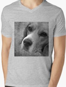 BEAGLE Mens V-Neck T-Shirt