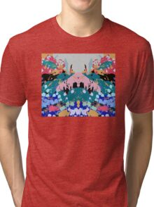 Low lying mountain ranges 6 Tri-blend T-Shirt