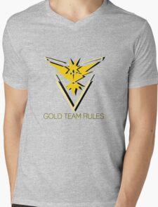 Team Instinct - Gold Team Rules Mens V-Neck T-Shirt