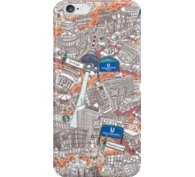 Illustrated map of Berlin-Mitte. Red iPhone Case/Skin