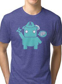 Ninja Pirate Robot Zombie Tri-blend T-Shirt