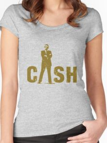 gold silhouette art the legend Women's Fitted Scoop T-Shirt