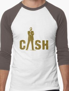 gold silhouette art the legend Men's Baseball ¾ T-Shirt