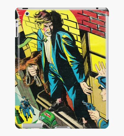 Criminal on a ledge surrounded by Cops iPad Case/Skin