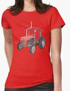 Grey Fergie Tractor  Womens Fitted T-Shirt