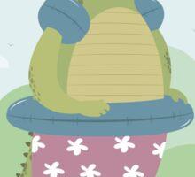 Alligator on the beach Sticker