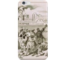 Performing Arts Posters Emersons Excelsior Minstrels 50 in number count them 1646 iPhone Case/Skin