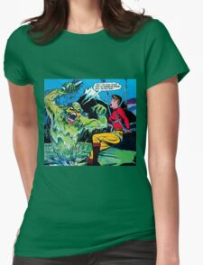 Swamp Sludge Thing attacks Womens Fitted T-Shirt