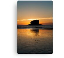 Gull Rock at Sunset #2 Canvas Print
