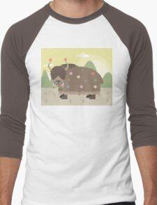 Yak in mountains Men's Baseball ¾ T-Shirt