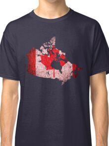 Canada Flag Map Classic T-Shirt