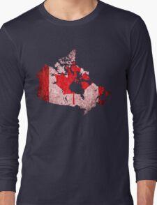 Canada Flag Map Long Sleeve T-Shirt