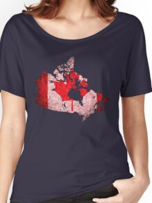 Canada Flag Map Women's Relaxed Fit T-Shirt