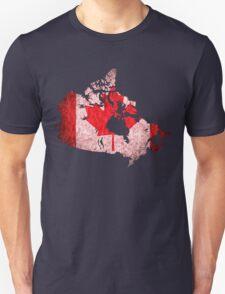Canada Flag Map Unisex T-Shirt