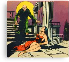 Nosferatu advances upon his captive Canvas Print