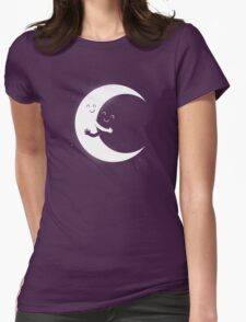 Gifts For Mom - Moon Hug Shirt - Funny Picture T-Shirt Womens Fitted T-Shirt