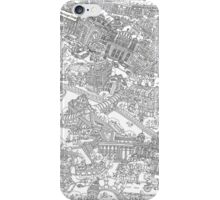 Illustrated map of Berlin-Mitte. Black & White iPhone Case/Skin