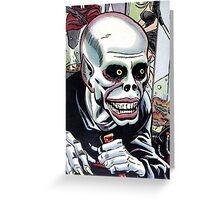Horrible Evil Undead Ghoul Greeting Card